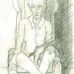 Alter Mann im Sessel
