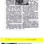 Zeitungsartikel   9.2001