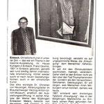 Evangelische Zeitung Göttingen  18.10 1981