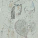 Tennisdamen  1978  59 x 42