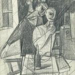 Trinkende Freunde 1957