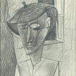 Männlicher Kopf  1957