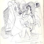 Spielende Familie  1953