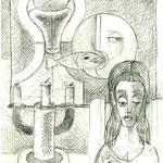 Frau mit Mond und Fisch