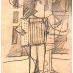 Straßenmusikanten  1954  15 x 19,5
