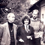 v.l. Marcel Genay, Fernsehmoderatorin Claudia Doren, Ralph Herrmann