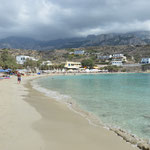 Spiaggia principale di Lefkos, isola di Karpathos