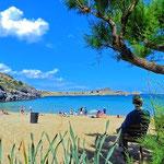 Spiaggia di Lindos, isola di Rodi
