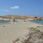 Una delle spiagge di Lefkos, isola di Karpathos