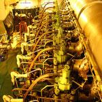 Maschinenraum eines Containerschiffs                                                                         Foto: Schomberg