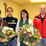 Bronold dankte Patrizia Legl, Magdalena Niebauer und Melanie Käsbauer(nicht am Bild) für ihr Engagement in der Jugendarbeit