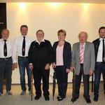 Gruppenfoto mit den Schirmherren, Vorstand Hutzler und Abteilungsleiter Baier und Lingl
