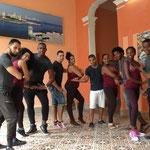 Teachers of 'Salsabor a Cuba' in rueda position