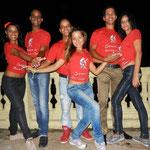 Teachers of Salsabor a Cuba: Mileydis, Ñico, Curi, Yenny, Chino und Yaneyvis