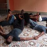 Estrella con los profesores de 'Salsabor a Cuba'
