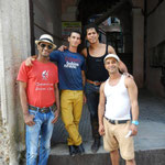 Teachers of Salsabor a Cuba: Ñico, Yosbel, Chino and Curi