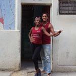Teachers Daymara and Yoel
