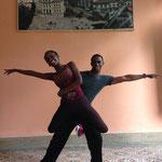 Daymara und Guapo, Lehrer von 'Salsabor a Cuba'