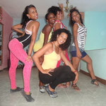 Profesoras de Salsabor a Cuba (Yoena, Daymara, Dayme, Yaliuska y Lisandra)