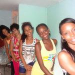 Profesoras de Salsabor a Cuba (Dayme, Yaliuska, Lisandra, Daymara y Yoena)