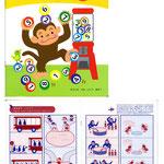 幼児向けワークブック「かず1」 表紙・中ページイラスト 販元 世界文化社 デザイン・本文構成 ケークルーデザインワークス