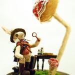 【Oliver/オリバー】 誕生日:4/24 出身地:西部 職業:植物学者 /草花にただならぬ愛情を注ぐ ●サイズ中/体長約20cm・座高約15cm(2017年)