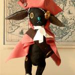 【Captain Cook/キャプテン・クック】 誕生日:1/19 出身地:カシミヤ島 所在地:カシミヤ島 職業:海賊 /海賊船フライング・ダック号の船長。かなりの酒豪。ボタンの魔女と取引きしたという噂が!? ●サイズ中/体長約20cm・座高約15cm(2012年制作)made-to-order『縫々王国の住民になろう!』