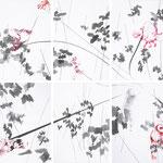 O.T., Bleistift, Tusche auf Karton, 200x210cm, 2013