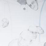 Die Pendler (1), Bleistift und Aquarell auf Karton, 60 x 50 cm, 2016