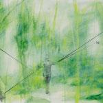 Spaziergängerin II, Aquarell, Bleistift auf Karton, 40x60cm, 2013