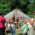 Western- Bauernspiele am Kindertag Siedlerzelt