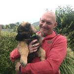 9 Wochen alt mit dem neuen Besitzer