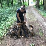 7,5 Wochen alt, Waldausflug