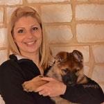 Gina mit ihrer neuen Besitzerin