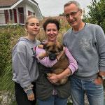 9 Wochen alt mit den neuen Besitzern