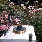 Altenburg, Thür.: Bronzesonnenuhr KEPLER, Bronzeschnecke SCHNECK (Kantenläufer)