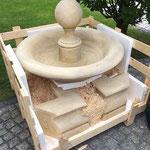 Ankunft Brunnen Padua beim Kunden