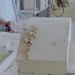 Arbeit am Brunnen Padua