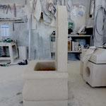 Arbeit am Brunnen Fonte Barberini