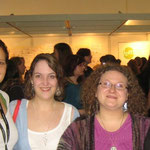 v. l. n. r.: ML Busch, Sandra A. Huber, Petra Bethe, ich