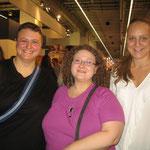 v. l. n. r.: ich, Petra Bethe, Nicole Wellemin