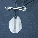 Art Clay-Anhänger, Silberschließe