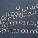 Silberringe mit Hämatit-Würfeln
