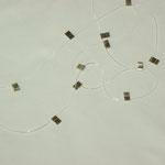 elastische Schnur mit Silberplättchen