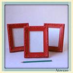 Marco barroco ROJO pequeño  / REF: MAR- 016 / 15x20 cms./ 3 unidades / Arriendo: $ 1.500 c/u / Garantía: $ 5.000