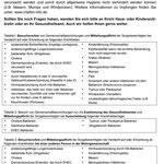 Belehrungen gemäß Infektionsschutzgesetz