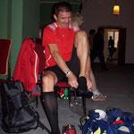 Die ersten Vorbereitungen für den Halbmarathon ...