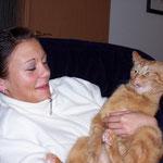 09.04.2004 - Hier zeige ich mich von meiner bockigen Seite ...