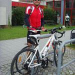 Gegen 8.15 Uhr kamen wir in Heidenau angeradelt ...