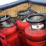 Die Gasvorräte im Korb ...